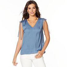 Vince Camuto Drawstring Shoulder Rumple Blouse