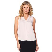 Vince Camuto Pleat-Front Tank