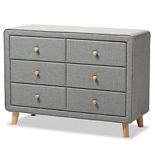 Wholesale Interiors Jonesy Fabric Upholstered 6-Drawer Dresser