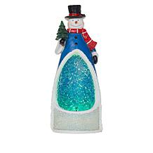 """Wind and Weather 13-1/2"""" Resin & Glass Mosaic Holiday Figure w/Timer"""