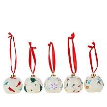 Winter Lane Hand-painted LED Ornament 5-pack with Timers