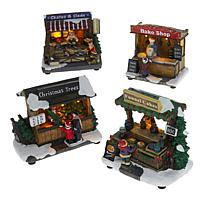 Winter Lane LED Lighted Village Scenes