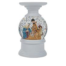 Winter Lane Water Globe Candle Holder with Timer