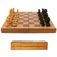 Wooden Book-Style Chess Board