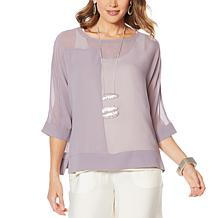 WynneLayers Seamed Poncho Top