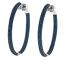 0.50ctw Colored Diamond Inside-Outside Hoop Earrings