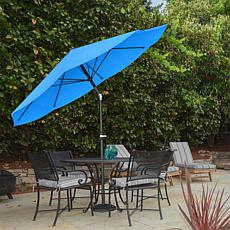 10' Auto-Tilt Patio Umbrella with Easy Crank - Brilliant Blue