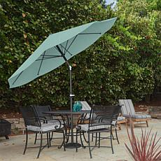 10' Auto-Tilt Patio Umbrella with Easy Crank - Dusty Green