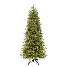 10' Slim Franklin Fir Artificial Christmas Tree - 900 Clear Lights