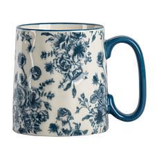 10 Strawberry Street Bella Line Floral Blue Mug 4-Pack