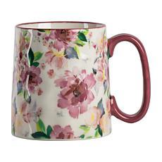 10 Strawberry Street Bella Mauve Water Color Floral Mug 4-Pack