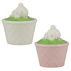 10 Strawberry Street Bunny Bottom Cupcake 2-pack - White and Pink