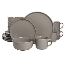 10 Strawberry Street Double Line 16-Piece Dinnerware Set