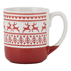 10 Strawberry Street Embossed Reindeer Mug 4-Pack