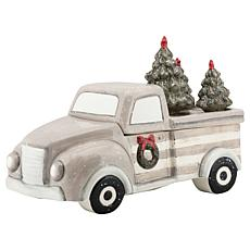10 Strawberry Street Winter Wonderland Truck Cookie Jar