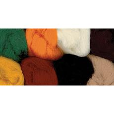 100% Wool Roving 8-Pack - Yellow, Brown, Orange, White, Black, Gree...
