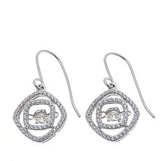 1.02ctw Absolute™ Sterling Silver Dancing Drop Earrings