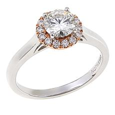 10K 2-Tone Gold 0.91ctw Moissanite Bridal Ring