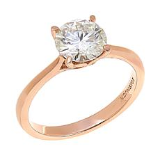 10K Gold 1.37ct Moissanite Solitaire Ring