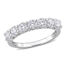 10K White Gold 1.05ctw Created Moissanite Semi-Eternity Band Ring