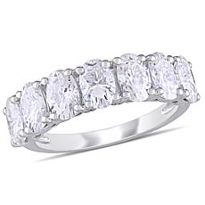 10K White Gold 3.50ctw Moissanite Semi-Eternity Band Ring