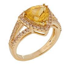 10K Yellow Gold 2.98ctw Apatite and Zircon Ring