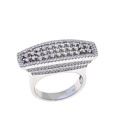 1.15ctw Absolute™ Sterling Silver Pavé East/West Ring