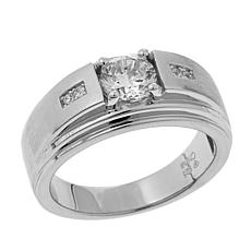 1.31ctw CZ Sterling Silver Statement Ring