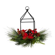 "14"" Christmas Poinsettia, Berry Christmas Table"