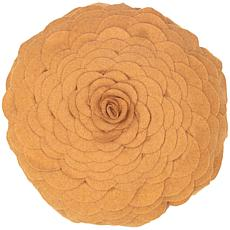 "14"" Round Petal Pillow - Gold"