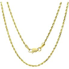 """14K Gold 1.5mm Rope Chain Necklace - 20"""""""