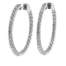 14K Gold 2.97ctw Diamond Hoop Earrings