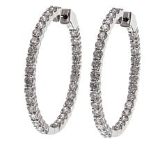 14K Gold 5.98ctw Diamond Hoop Earrings