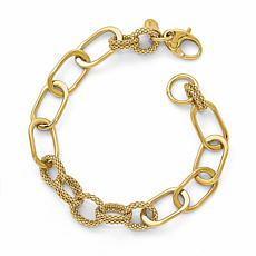 14K Gold Multi-Textured Fancy Link Bracelet