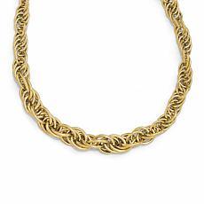 14K Gold Polished Fancy Link Necklace