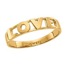 "14K Gold Polished ""Love"" Stack Ring"