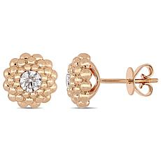 14K Rose Gold 0.50ctw Diamond Floral Stud Earrings
