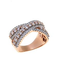 14K Rose Gold 1.06ctw Pink and White Diamond Ring