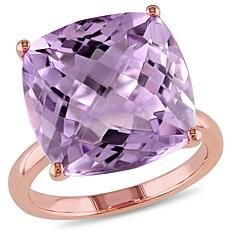 14K Rose Gold 13.35ctw Amethyst Solitaire Ring