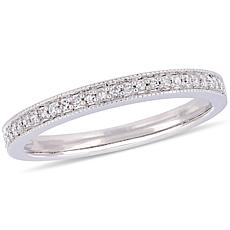 14K White Gold 0.13ct Diamond Eternity Band Ring