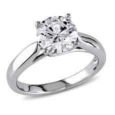 14K White Gold 1.25ct Moissanite Round Solitaire Ring