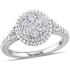 14K White Gold 1ctw Diamond Vintage Halo Engagement Ring