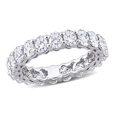 14K White Gold 5.25ctw Oval-Cut Created Moissanite Eternity Band Ring
