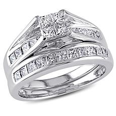 14K White Gold Diamond Bridal Ring Set