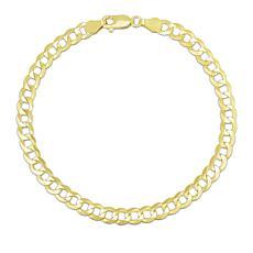 "14K Yellow Gold 5.7mm Diamond-Cut Comfort Curb Chain Bracelet - 8-1/2"""