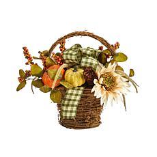 """16"""" Fall Pumpkin Gourds and Berries Autumn Arrangement"""