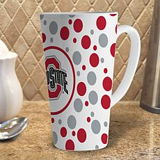 16 oz. Polka Dot Latte Mug - Ohio State