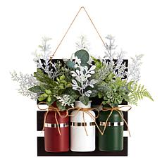 "17"" Holiday Assorted Christmas Mason Jar"