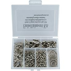 175-Piece Embellishment Kit - Pewter