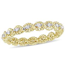 .17ctw White Diamond 10K Yellow Gold Band Ring